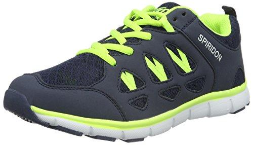 Bruetting Unisex-Erwachsene Spiridon Fit Sneaker Blau (MARINE/LEMON)
