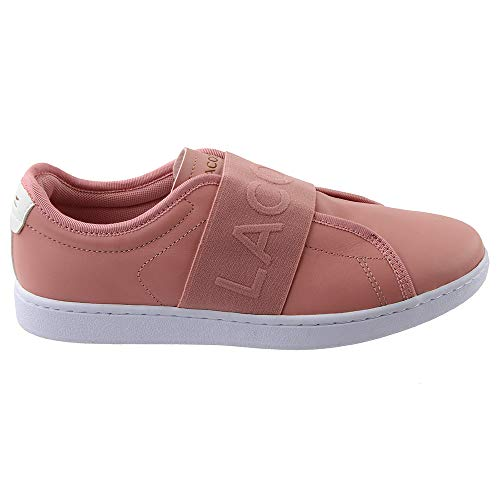 Lacoste Women's Pink White Evo Carnaby Sneaker ffxq7rF
