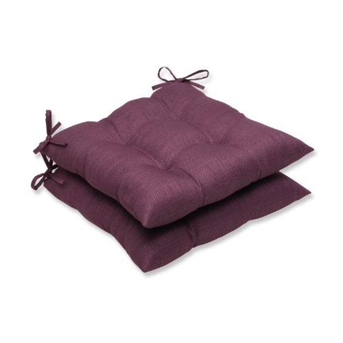 Pillow Perfect Outdoor Rave Vineyard Wrought Iron Seat Cushion, Set of 2