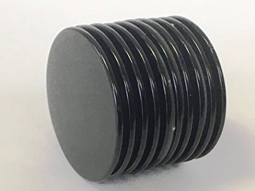 """EDS Neodymium Magnets N50 Disc 1.26""""D x 0.06""""H, Pack of 10 Epoxy Coated Super Strong Permanent Rare Earth Magnets. Ideal for Fridge Magnets, DIY, Building, Scientific, Craft, and Office Magnets"""