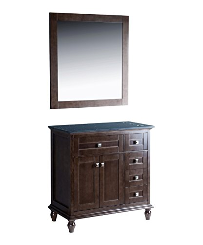 Madison 36'' Oak Grey Vanity Styling Station & Mirror by BR Beauty