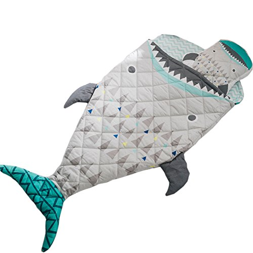 "PISSCO Kids 100% Cotton Shark Blanket, Soft and Warm Sleeping Bag for Boys and Girls, 59""X27"" by PISSCO (Image #7)"
