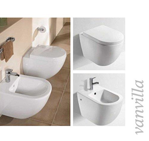 vanvilla Design Hänge WC 833 + Hänge Bidet 833 SET, inklusive Soft-Close