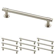 Franklin Brass P29618K-SN-B Satin Nickel 5-Inch Francisco Kitchen or Furniture Cabinet Hardware Drawer Handle Pull, 10 pack