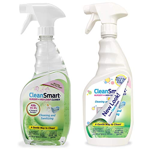 BlankSmart Nursery & High Chair Cleaner, 23 Ounce Bottle (Pack of two), Hypochlorous Naturally Kills 99.9% Viruses and Bacteria and not using a Harmful Residue