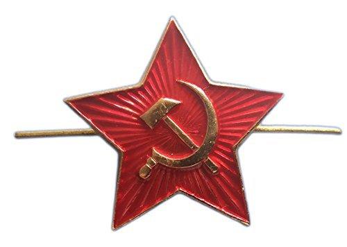 Ganwear? Soviet USSR Russian Army Military Large RED Star Pilotka Hat Cap Beret Pin Badge Kokarda by Ganwear? USSR HOUSE LIMITED