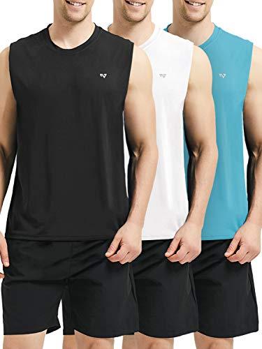 Roadbox Men's Performance Sleeveless Workout Muscle Bodybuilding Tank Tops ()