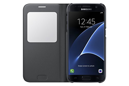 Samsung Galaxy S7 Case S-View Flip Cover - Black by Samsung (Image #2)
