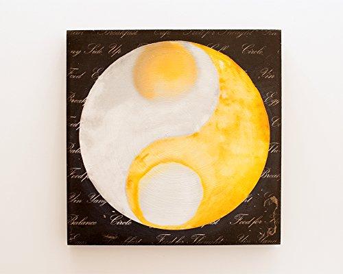 (Yin Yang: Breakfast Nook Fried Egg Photo Transfer Art on Wood 10x10)