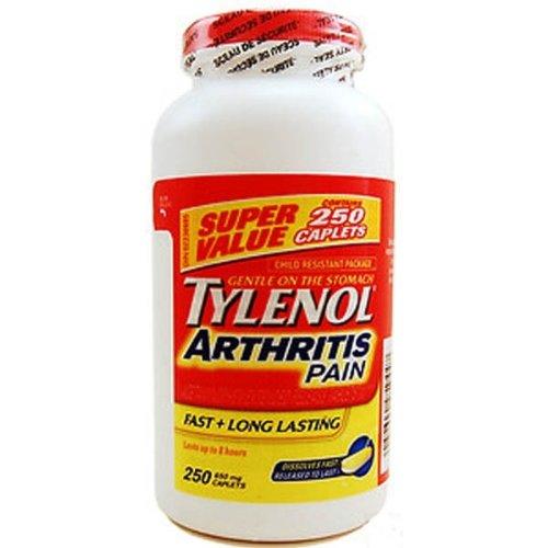 Tylenol Arthritis Caplets Bottle Acetaminophen
