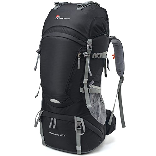 MOUNTAINTOP 55L 65L Internal Frame Backpack Hiking Backpack with Rain Cover-5822III