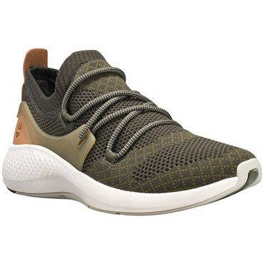 Timberland Mens Flyroam Go Knit Sneakers, Dark Green Knit Jacquard, Size 9 ()