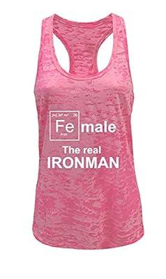 Tough Cookie's Women's Female Ironman Funny Burnout Tank Top