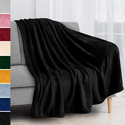 PAVILIA Fleece Blanket Throw   Super Soft, Plush, Luxury Flannel Throw   Lightweight Microfiber Blanket for Sofa Couch…