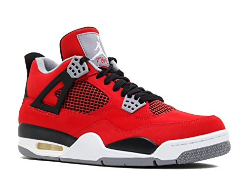 Jordan Air 4 Retro Toro Bravo Men's Shoes Fire Red/White-Black-Cement Grey 308497-603-11 (Cement 4 Retro)