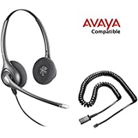 Avaya Compatible Plantronics HW261N Noise Canceling Headset Bundle Avaya IP Phones: 1608, 1616, 9601, 9608, 9610, 9611, 9611G, 9620, 9620C, 9620L, 9621, 9630, 9640, 9640G, 9641, 9650, 9650C, 9670
