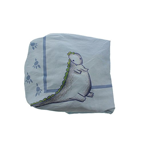 Truly Scrumptious by Heidi Klum Dinosaur Tracks Infant Boys Crib Sheet Blue