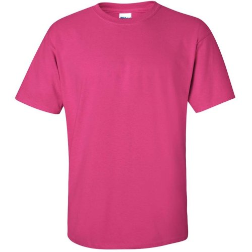 percent cotton BLANK TEE T-SHIRT heavy MENS T-SHIRT Hot Pink S (Cents Blank)