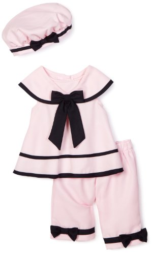 Rare Editions Baby-girls Newborn Nautical Capri Set