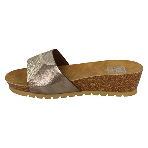 To Earth Down Gold Keil Damen Sandalen Kork Mid 6A4wxq4ndF