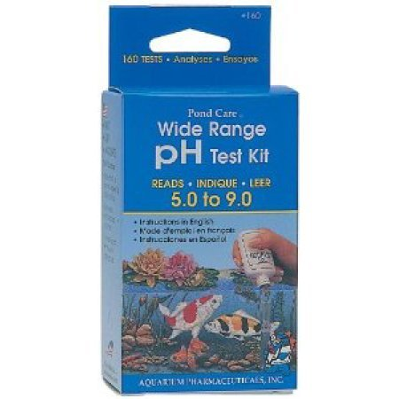 API Pond Care Wide Range pH Pond Water Test Kit with BONUS Max Ponds Magnet Calendar by CalPonds