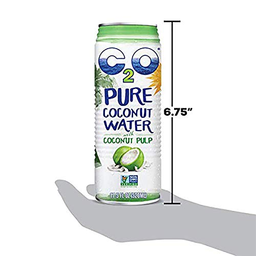 C2O Pure Coconut Water with Pulp | Plant Based | Non-GMO | No Added Sugar | Essential Electrolytes | 17.5 FL OZ (Pack of 12) 7