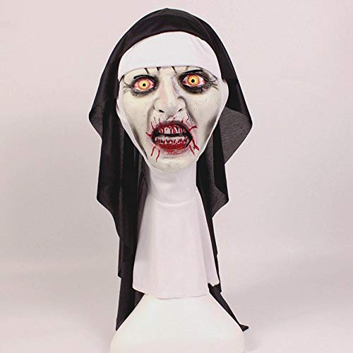 Littlefairy Mask,Nun Mask Halloween Horror Makeup mask Tricky