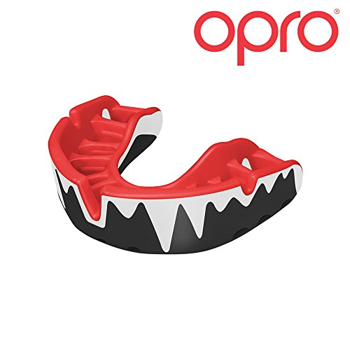 OPRO Mouthguard Adult Custom-Fit Platinum Level Gum Shield for Ball, Combat and Stick Sports - 18 Month Dental Warranty (Ages 10+) (Fangz)