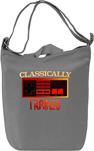 Classically Trained Borsa Giornaliera Canvas Canvas Day Bag| 100% Premium Cotton Canvas| DTG Printing|
