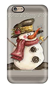 Hot Style ByhSDaD1286nbMfe Protective Case Cover For Iphone6(snowman Tree Grey White Branches Cold Black Xmas Santa Claus Holiday Christmas)