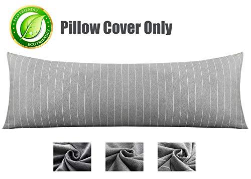 KWLET Body Pillow Cover Cotton Body Pillow Case Pillowcase with Double Zipper 21