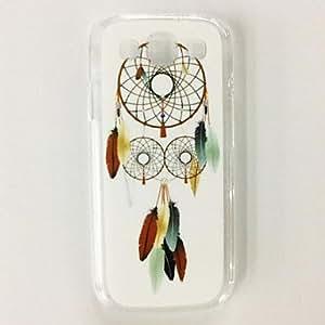 Colorido patrón de la pluma del colector del sueño de plástico duro caso para Samsung Galaxy S3 I9300 , Multicolor