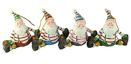 UPC 762152185041, Club Pack Of 72 Santa Claus Doing A Split Christmas Ornaments 4""