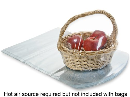 Pack Of 100, 20 X 20'' Dome Solid Clear 100 Gauge Pvc Shrink Basket Bags For Baskets 9'' - 13'' by Generic