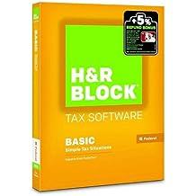 H&R Block 2015 Basic Tax Software, PC/Mac Disc