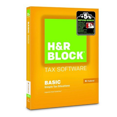 H R Block 2015 Basic Tax Software  Pc Mac Disc