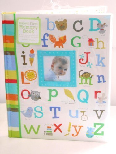 Baby's First Memory Book Alphabet w/ Pictures, Green, Blue, Brown, Yellow, Orange