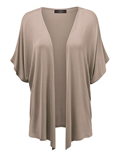 MBJ Womens Short Sleeve Dolman Cardigan XL -