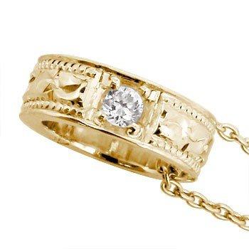 ベビーリング ダイヤモンド ハワイアンジュエリー ハワイアンペンダント ピンクゴールドK18 K18PG 愛する人へ想いを込めて リングネックレス ペンダントトップ ペンダントヘッド   B008PQ2YIM