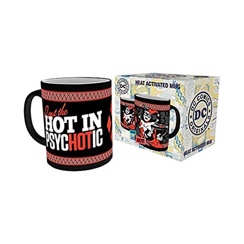 Official DC Harley Quinn Psychotic Heat Change Reactive Coffee Mug - Boxed -