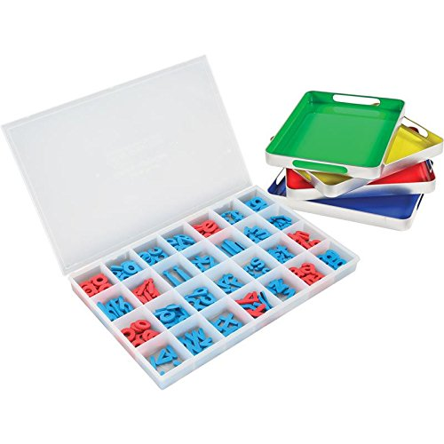 Really Good Stuff MAGtivity Tins with Foam Color-Coded Magnetic Letters Classroom Kit by Really Good Stuff