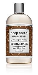 Deep Steep Bubble Bath, Brown Sugar Vanilla, 17 Ounce