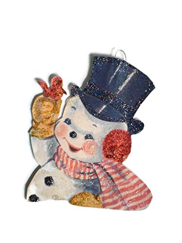 Christmas Tree Ornament Decoration Happy Snowman with Cardinal Bird Happy Bird Day Collection