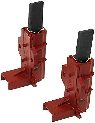 Pack de 2cepillos de carbono para Motor de lavadora y soporte para Hotpoint, Indesit, Ariston y Zanussi