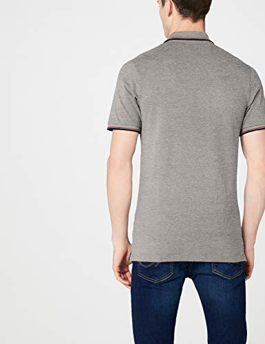 Polo Stripe Jack Noos Detail Melange Ss Melange Slim amp; light Grey Jones Jjecontrast Homme Gris Fit 71qWntIqxB