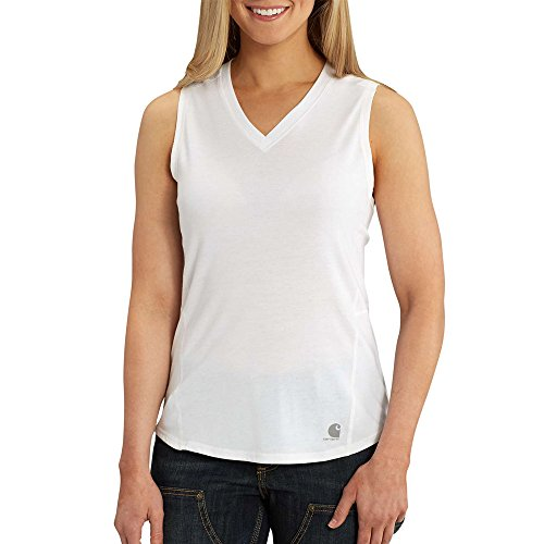 - Carhartt Women's Force Ferndale Tank Top, White, X-Small