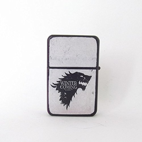 Game of Thrones lighter, winter is coming, wolf lighter, Game of Thrones art, Game of Thrones collectable, cool lighter, custom for him