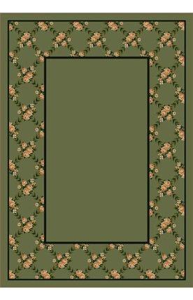 Milliken 8477/6306 Design Center Rose Bower Moss Rug Size: 3