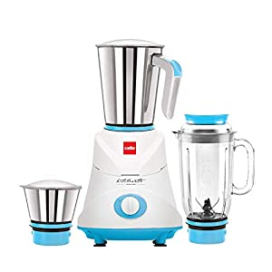 Cello 500W Mixer Grinder with 3 Jars, Blue