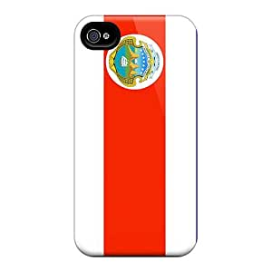 Cute Appearance Covers/sWf19537Efbq Costa Rica Flag Cases Samsung Galaxy Note4